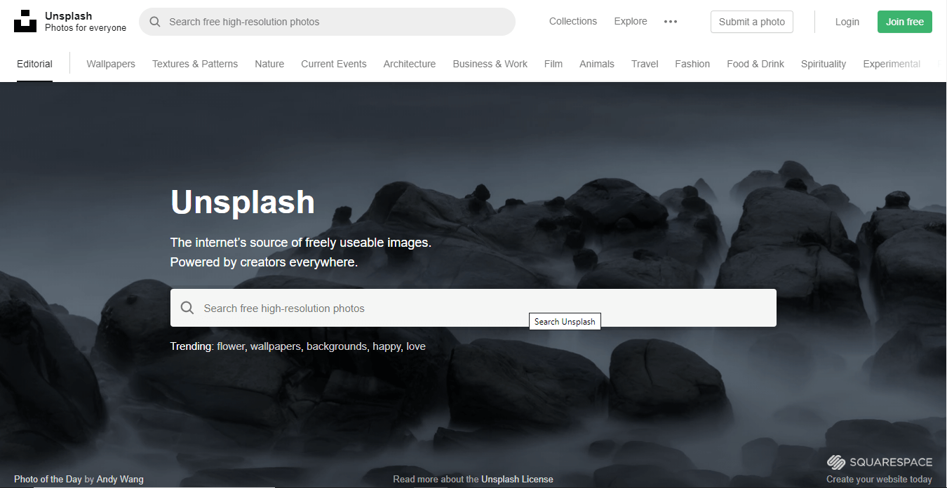 unsplash marketing tools