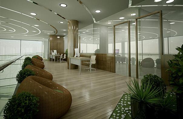 Điểm nhấn của thiết kế nội thất văn phòng bằng gỗ trong không gian làm việc