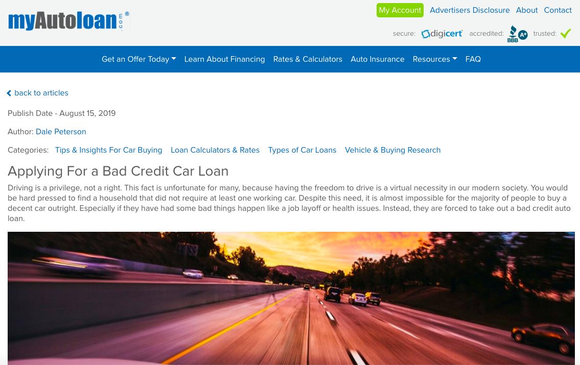 Best Auto Loan Companies Of 2019