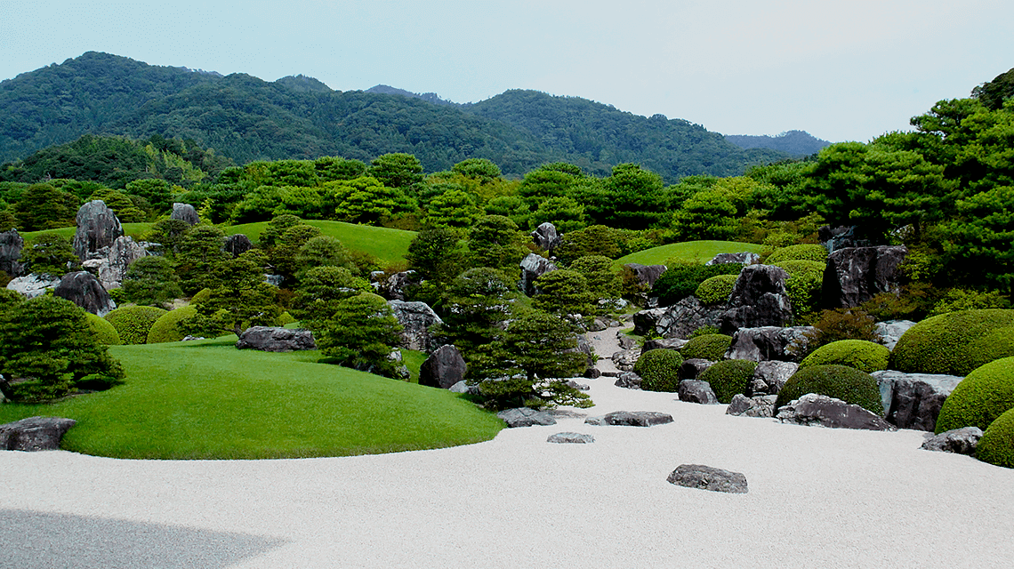 Landscape garden at Adachi Museum of Art in Matsue, Japan