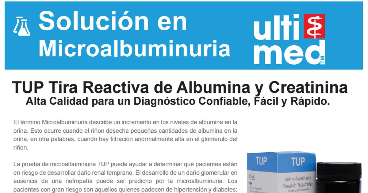 prueba de microalbúmina en orina diabetes