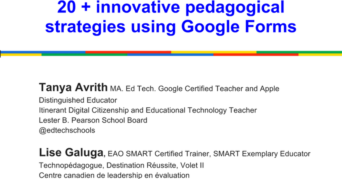 20+ Innovative Ways to Use Google Forms