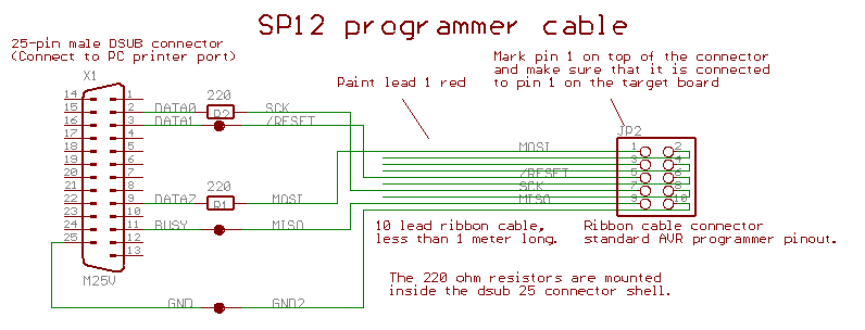 How to program ATmega8 using laptop with 15-pin D'SUB connector