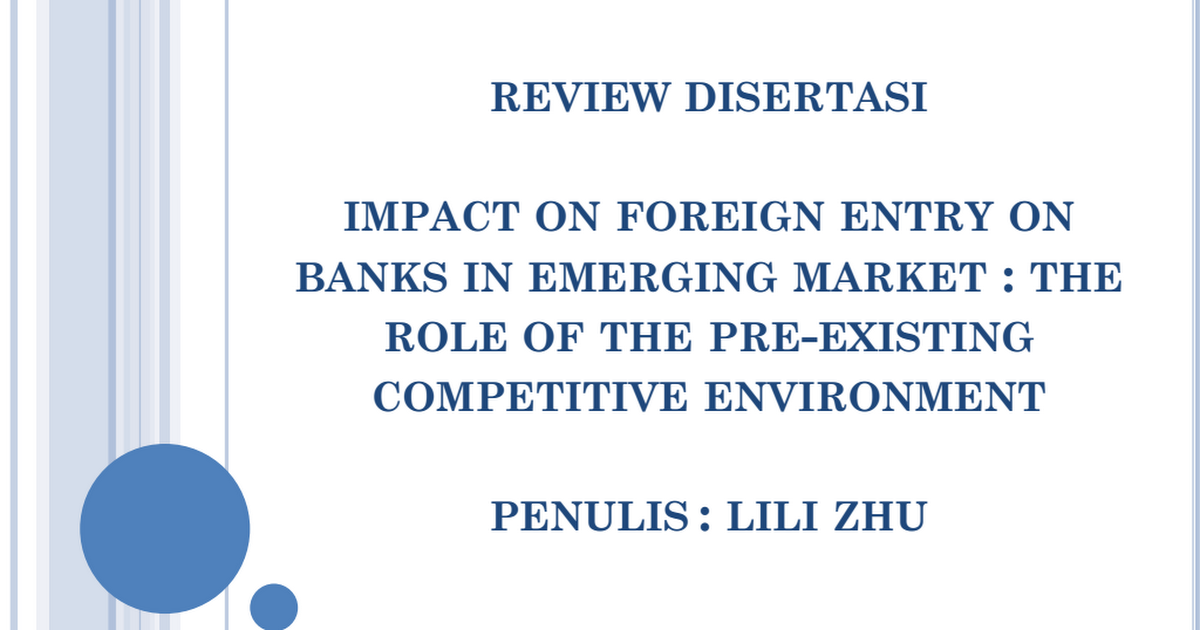 impact of foreign banks on banking in emerging economies essay Impact of the global financial and economic crisis on the recession on the performance of emerging markets foreign direct investment (world bank.
