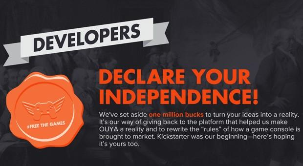 Indie game developers push back on OUYA's 'Free the Games' fund, some pulling games from the device.