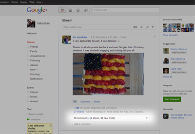 Google Plus Chrome Extensions