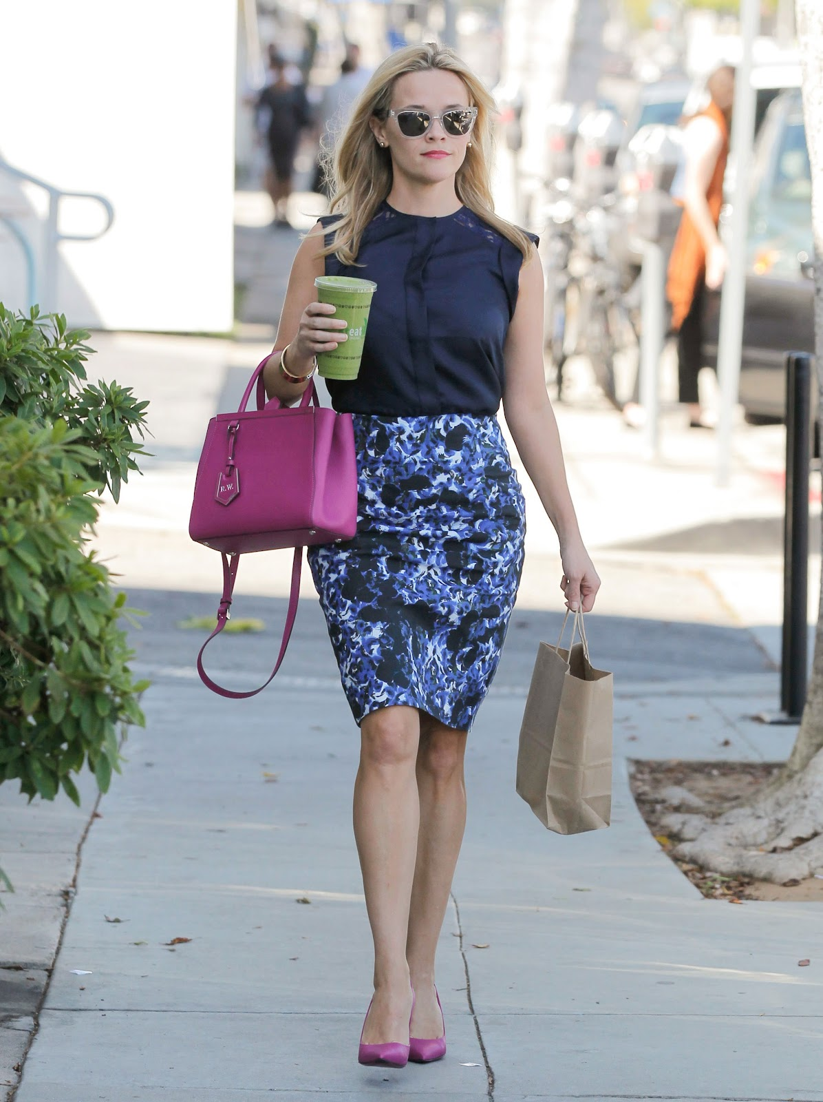 Reese Witherspoon with Summer's Coordinated Accessories | Vogue