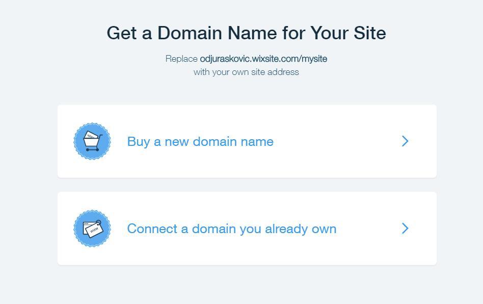 wix domain options