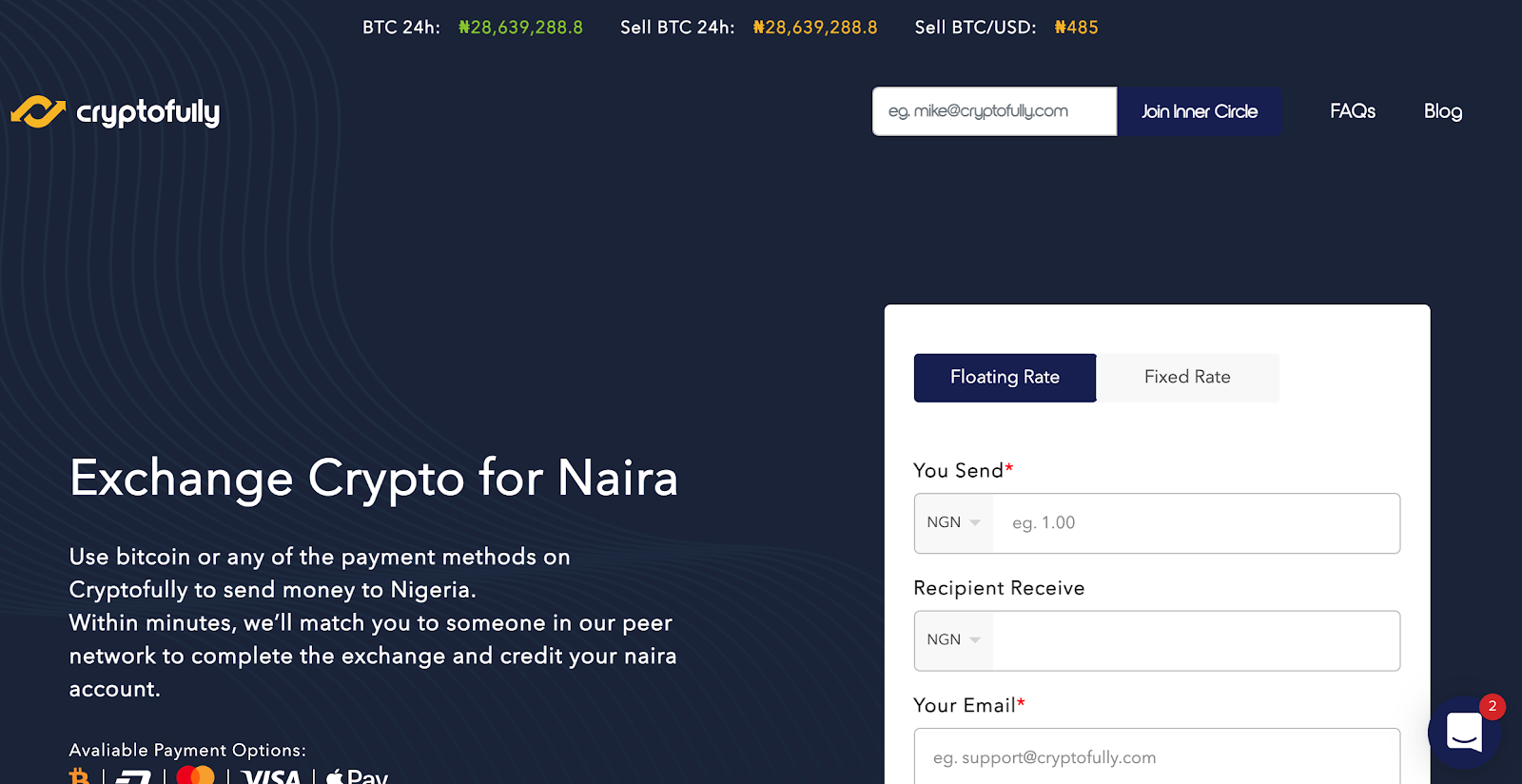Cryptofully Homepage