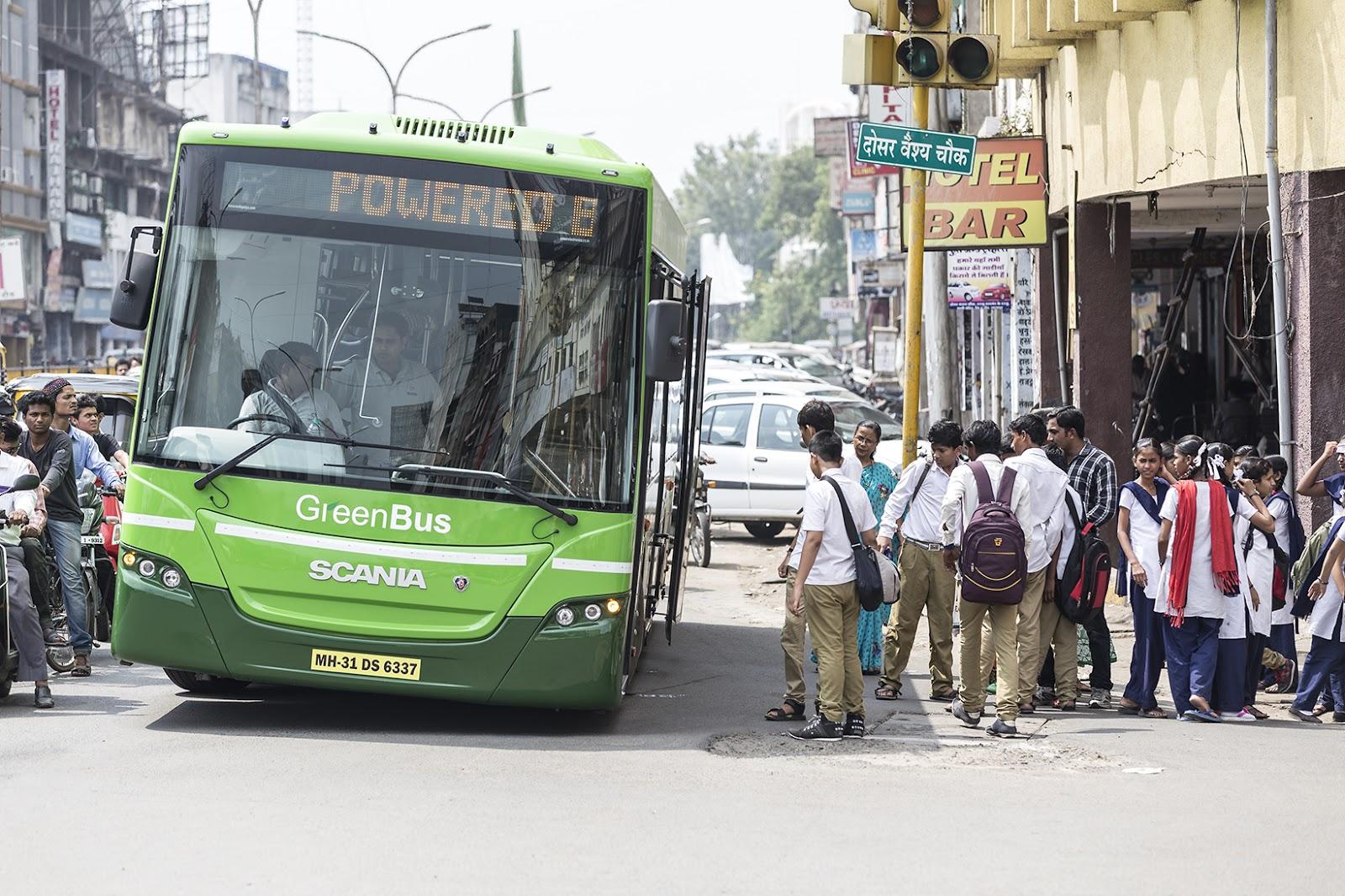 Nagpur, Green Bus, Bus, Green Nagpur, Green Buses, Scania, Starbus, Nagpur Municipal Corporation, NMC