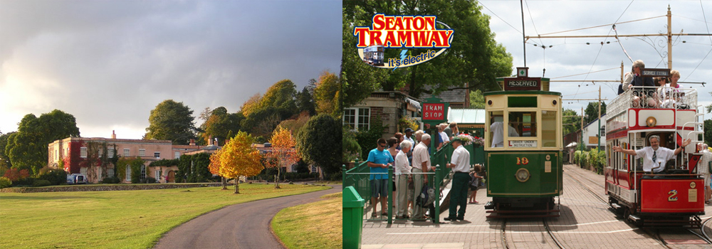 Enjoy the Seaton Tramway or explore Killerton House while on holiday in Devon.
