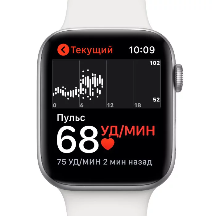 Apple Watch Series 4 44mm Aluminum (Gold) дисплей, описание