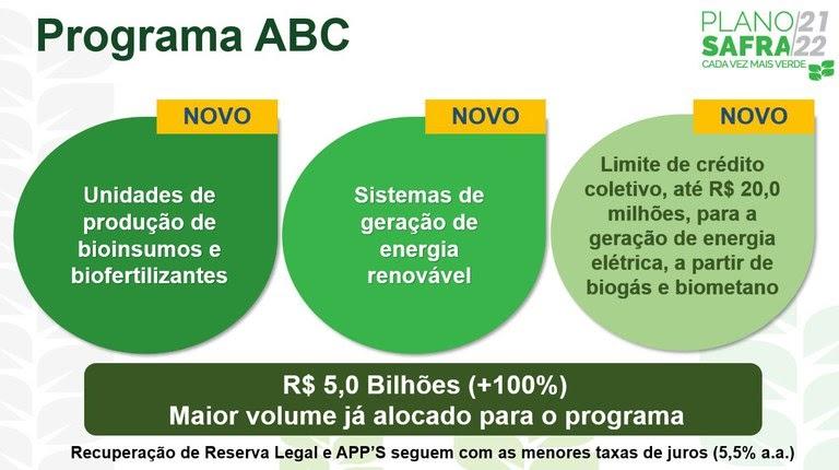 Investimentos do Plano ABC, com linhas de crédito para viabilizar a energia solar no campo