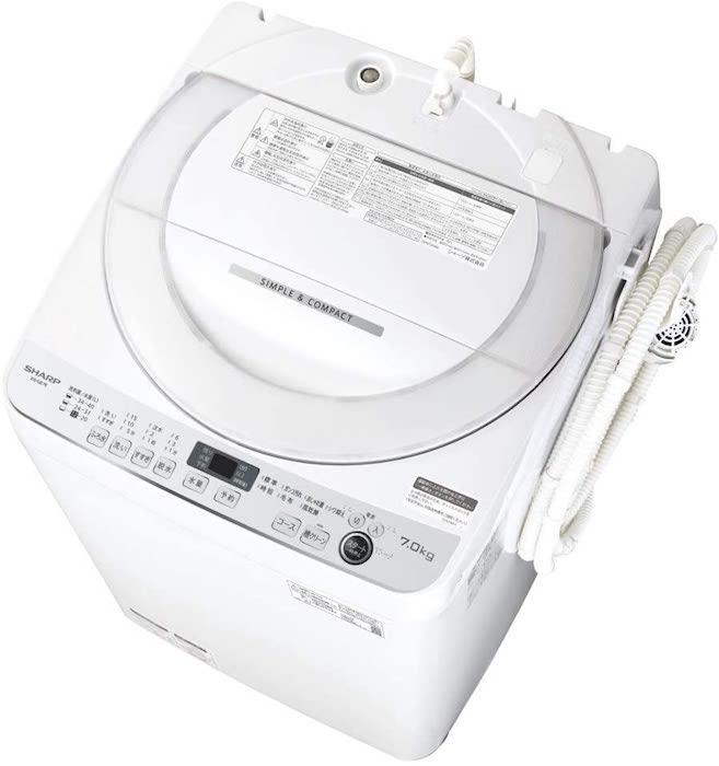 シャープ SHARP 全自動洗濯機 ステンレス穴なし槽ES-GE7E-W