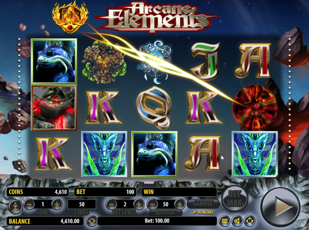 Arcane Elements slots game