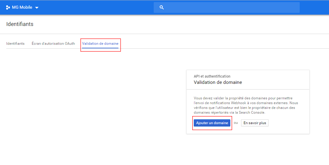 Création de la clé API Google Maps