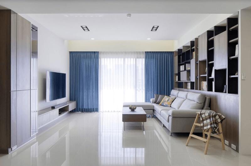 配色以白色為主維持視覺清爽形成寬敞與舒適的生活空間