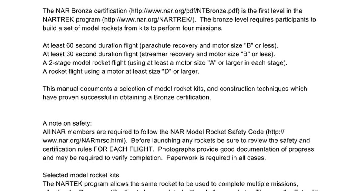 Rockets 101 Manual Google Docs