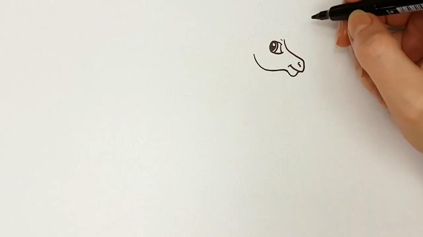 como dibujar un caballo kawaii