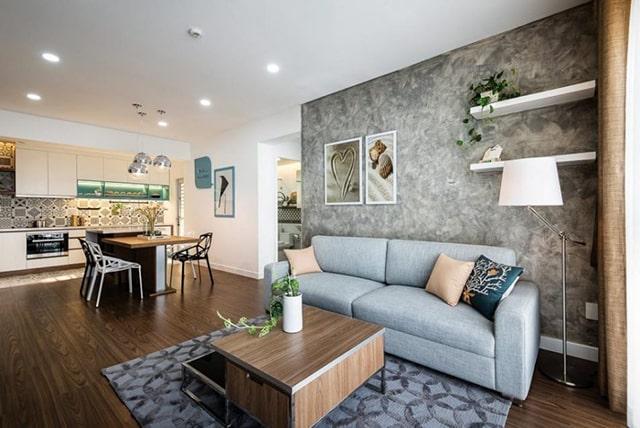 Mẫu thiết kế nội thất phòng khách chung cư lớn