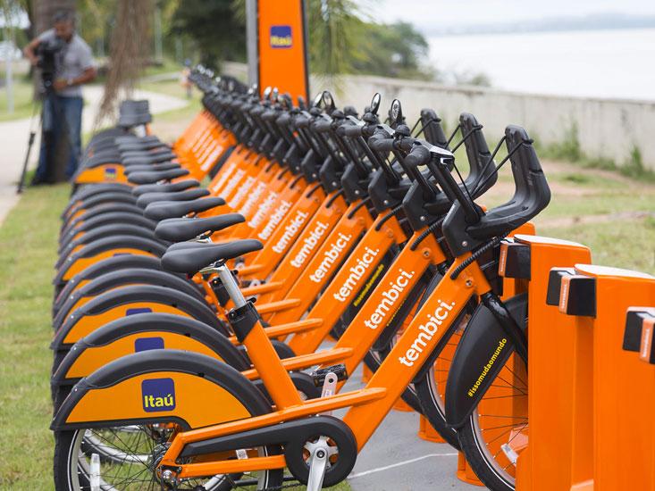 Empresa de micromobilidade Tembici está oferecendo locações grátis para incentivar a vacinação por bicicleta em várias cidades (Imagem: Tembici/Divulgação)