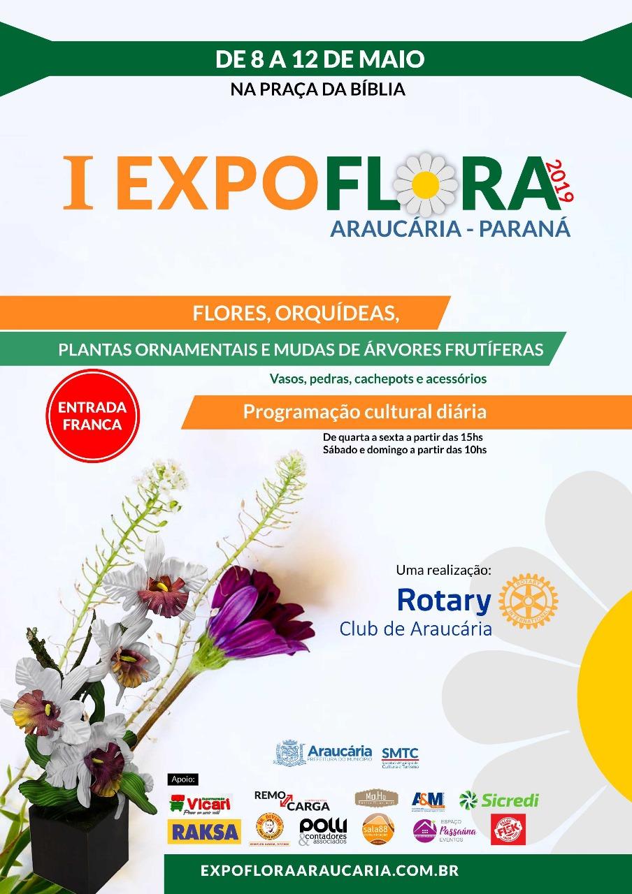 I Expoflora de Araucária acontece entre os dias 8 a 12 de maio