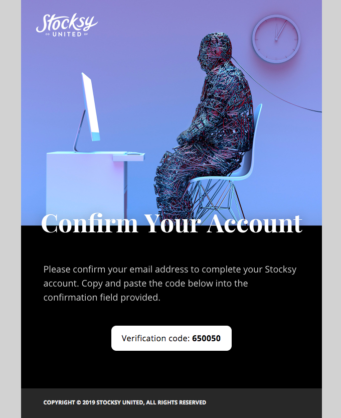 An example of a transactional email.