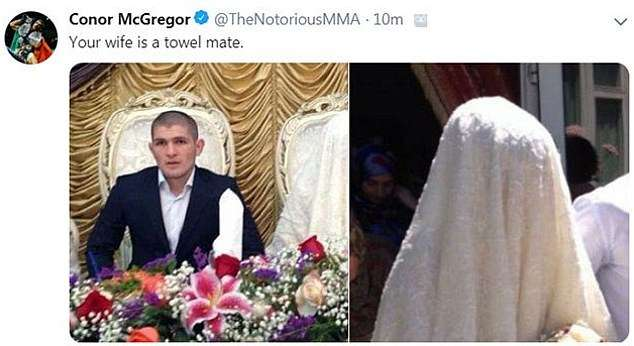Man at wedding. Islamic bride wearing traditional wedding clothes. Khabib.