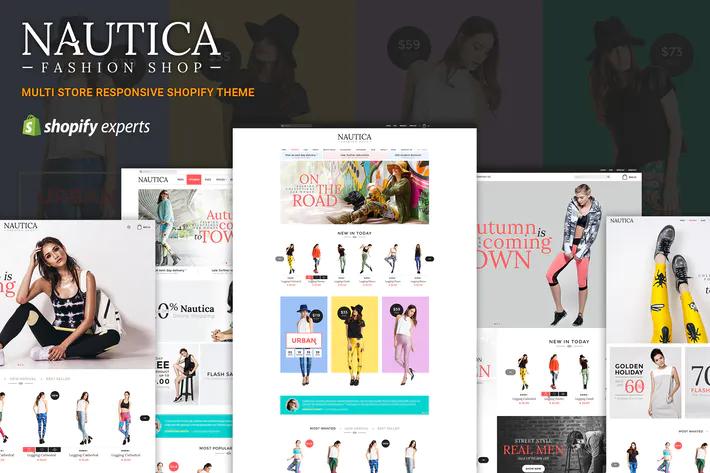 Shopify responsive themes Nautica