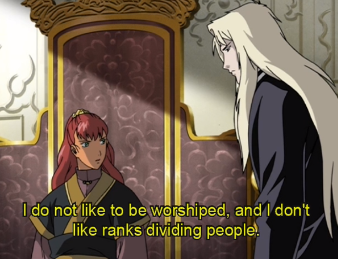 """Youko looks at Keiki and says """"I do not like to be worshiped, and I don't like ranks diving people!"""""""