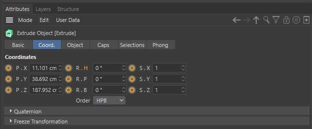 Cinema 4D Atributes editor