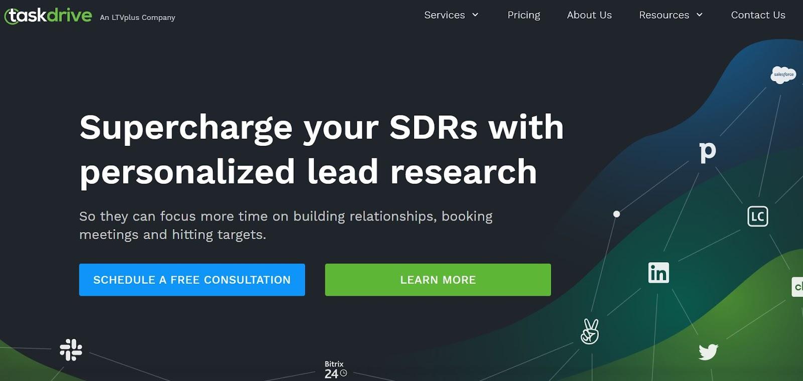 TaskDrive home page