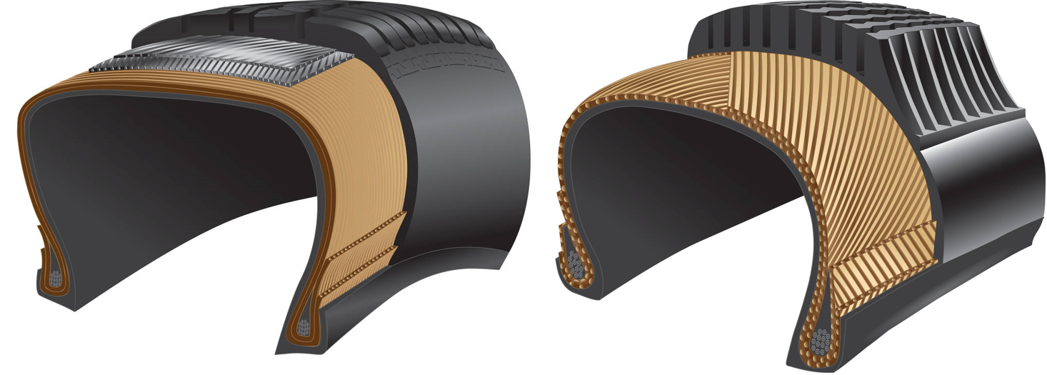 Radial vs. Bias Ply tyre construction