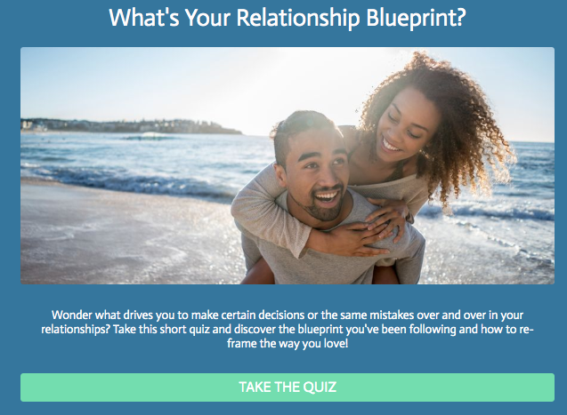 What's your relationship blueprint? quiz cover