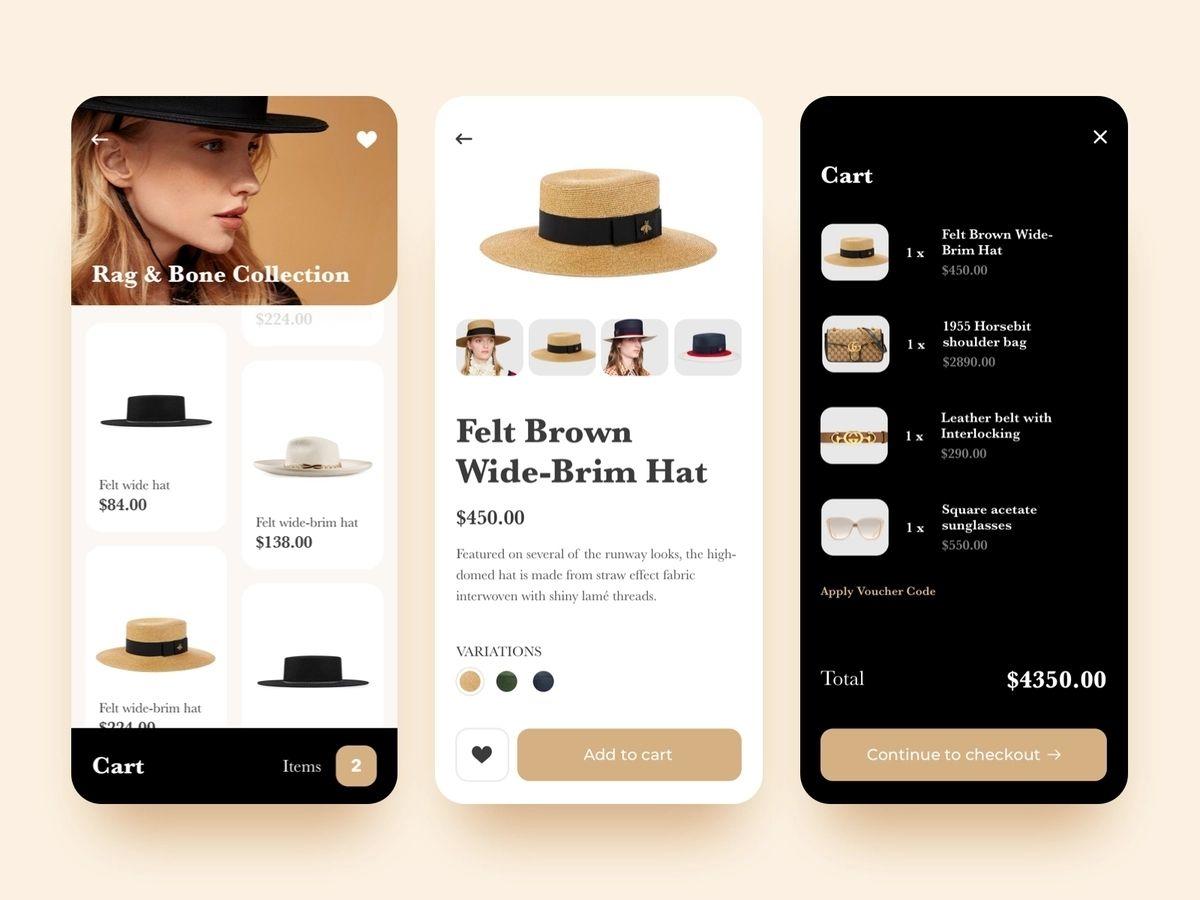 Shopping app built using react native technology