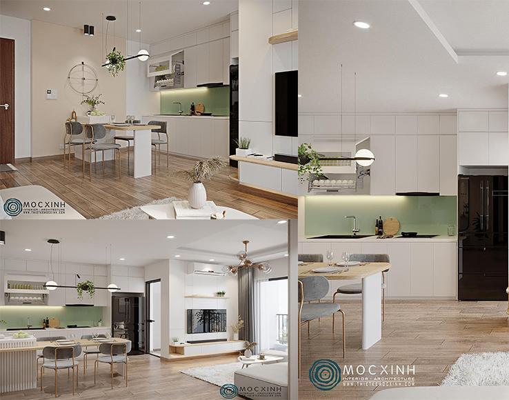 Thiết kế không gian nội thất phòng bếp