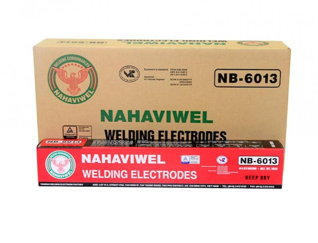 Que hàn nb-6013 được sử dụng để hàn kết cấu thép cacbon thấp