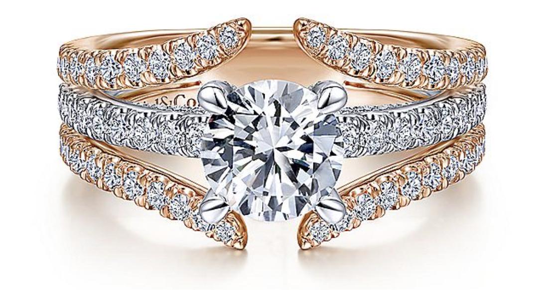 14K white gold split ring