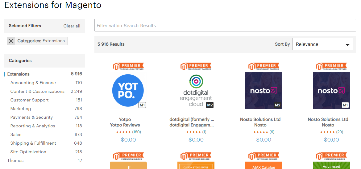 Magento Extensions Marketplace