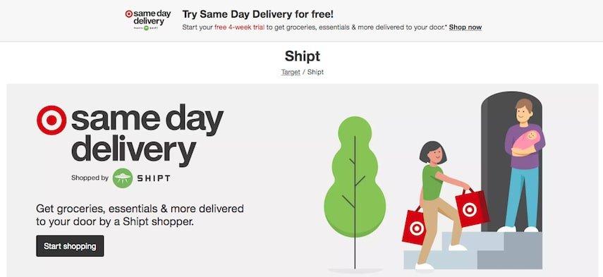 target homepage - Amazon alternative