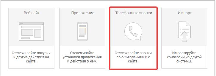 Отслеживание звонков в Google AdWords