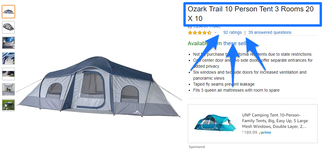 Ozark - Amazon Product Descriptions Example