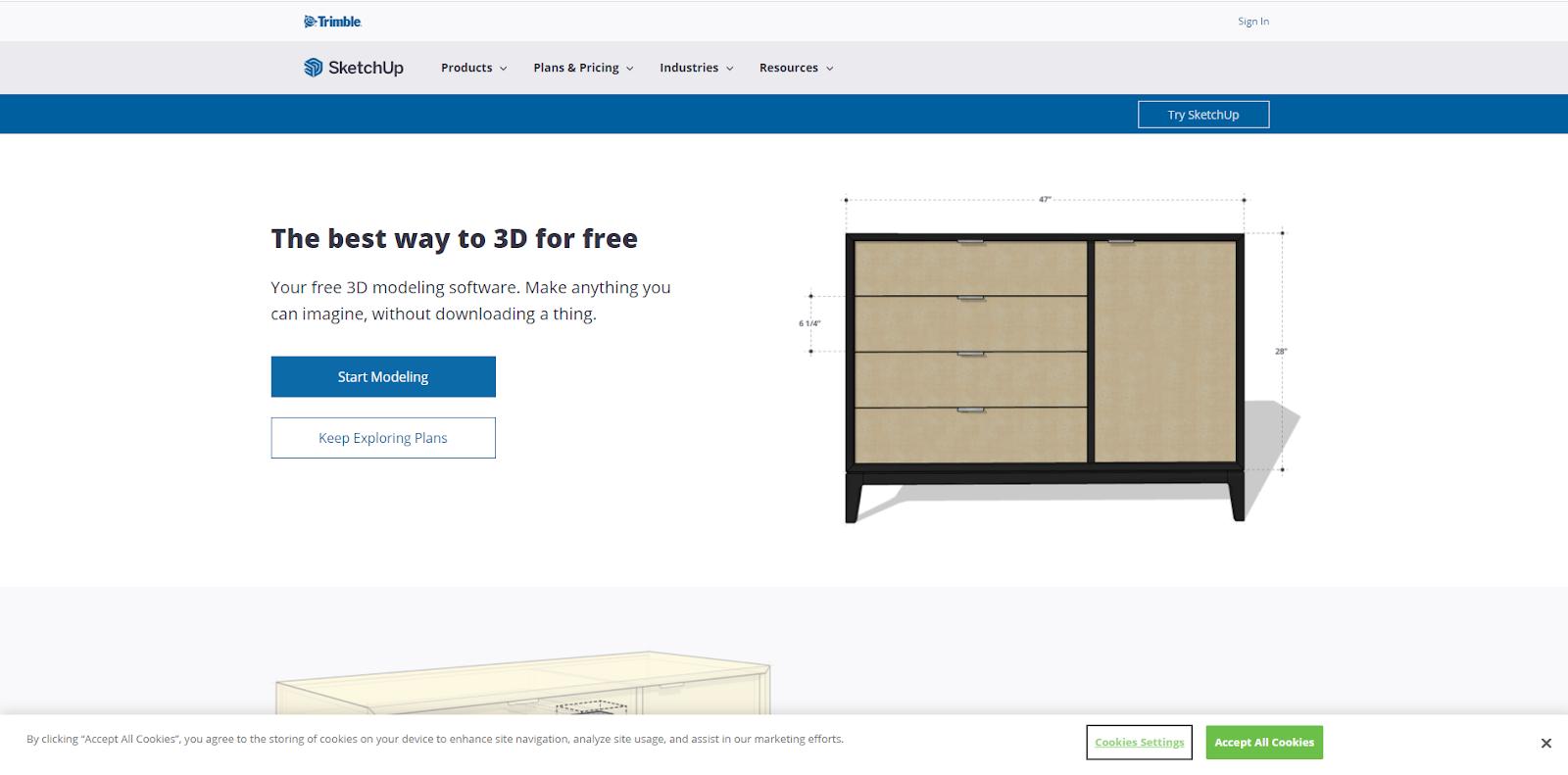 SketchUp Free Graphic Design Sofrware