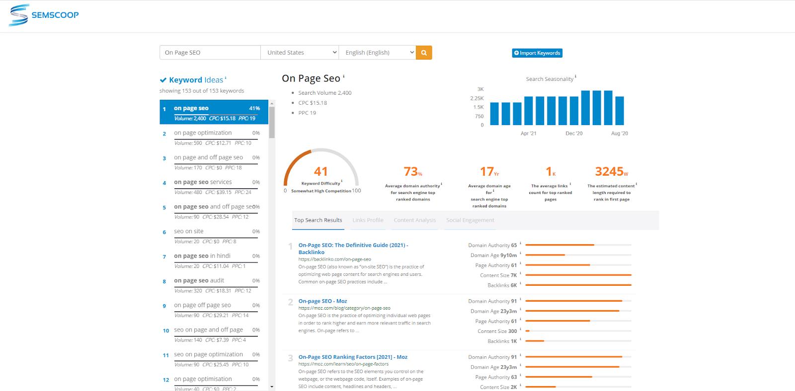 on-site SEO tool