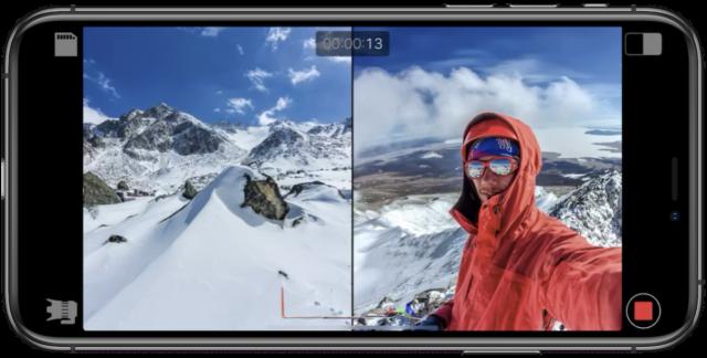 iPhone registra 2 telecamere contemporaneamente