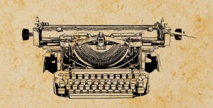 14375224 - old paper with typewriter pattern vintage background