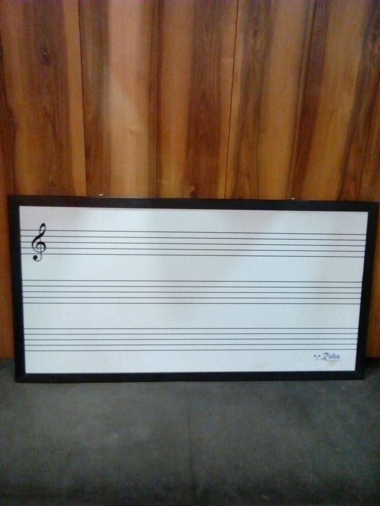 تخته وایتبرد (میوزیک برد) موسیقی رها (تابلو آموزش موسیقی بزرگ)
