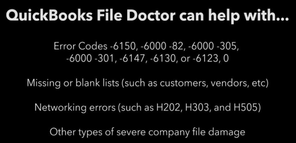 Quickbooks file doctor : can help