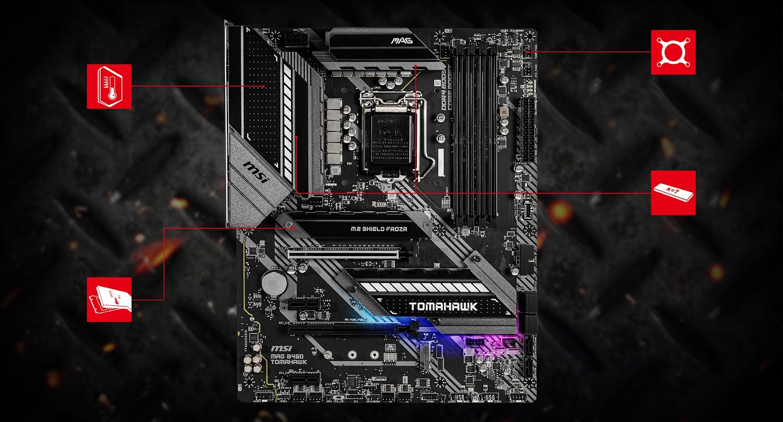 MPG B460 GAMING CARBON WIFI motherboard