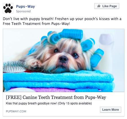 Pups-Way Facebook Ad Screenshot